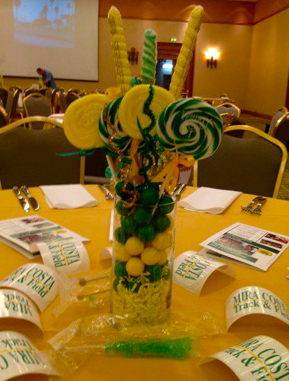 Banquet mt sac recap mira costa track and field for Athletic banquet decoration ideas