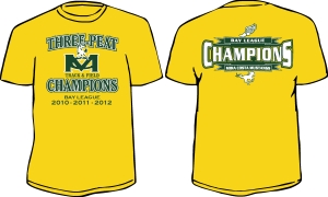 $15 for a Bay League 3-Peat Shirt!